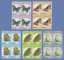 az785bl Azerbaijan 2010 Butterflies 5v block Michel 785~6 806~7 834