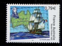 FRANCE 2002-un Timbre (1) YT N° 3477** Bicentenaire De La Rencontre Des Navigateurs  Nicolas Baudin Et Matthew Flinders - France