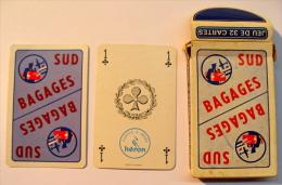JEU DE 32 CARTES AVEC ETUI . SUD BAGAGES / CARTES A JOUER HERON - Cartes à Jouer Classiques