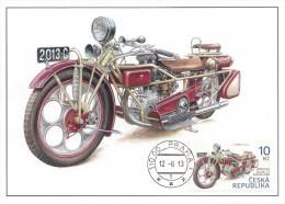 2013 Ceska Republika Maxi Card    MOTORCYCLE  MOTO MIKE  MOTORBIKE  - Carte Maximum - Very RARE !!! - Motorfietsen