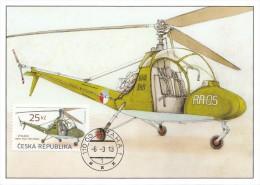 2013 Ceska Republika Maxi Card HELICOPTER Aero HC2 - Heli Baby -  Carte Maximum - Helikopters
