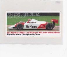 Sticker Marlboro - Zolder Belgium 1981 - Automobile - F1