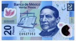 MEXICO 20 PESOS 2010 Pick 122e Unc - Mexico