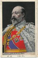 Silk Card  Royalty Georges V King Of  United Kingdom Carte Tissée Soie - Brodées