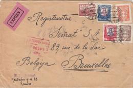 Lituanie - Lettre Recommandée Exprès De 1931 ° - Oblitération Kaunas - Expédié Vers La Belgique - Senat à Bruxelles
