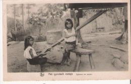 HET  IGOROTSCH MEISJE   SPINNEN EN WEVEN  1928 - Philippines