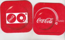 Romanian Coca Cola Coaster - Coca Cola Music - Sottobicchieri Di Birra