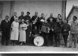 Base Aerienne De LYON  BRON Orchestre De Jazz 1934  Photo 9 Cm X6,5 Cm MILITARIA - Aviation