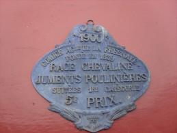 Plaque Comice Agricole 1900  La Fresnaye Sur Chedouet  Dept 72  Sarthe  Race Chevaline Juments - Altri