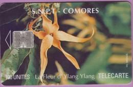 Télécarte Comores °° 100 Units °= Fleur D´Ylang-ylang  - N) Verso C5B154996 *  B E - Comoros
