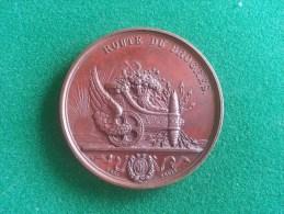 Spoor, Route du Prog�s, Inauguration du Chemin de Fer 3/5/1836, R�gence d'Anvers, 45 gram (medailles0952)