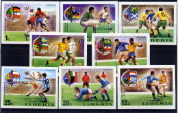 Libéria Série Complète ND/imperf/B CM 74 ** - Coppa Del Mondo