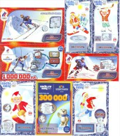 Russia. Lottery Tickets. In Support And Hosting Of The Olympic Games In Sochi 2014. - Billetes De Lotería