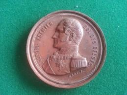 Leopold I, 25e Ann. De L'Inauguration Du Régne 1856 (F. Hart), 82 Gram (medailles0955) - Royal / Of Nobility