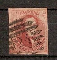 Nr. 12 Met  8 Barren Afstempeling P24 Van BRUXELLES / BRUSSEL ! Inzet Aan 15 € ! - 1858-1862 Medaillen (9/12)