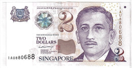 Singapour, 2 Dollars Type Yusof Bin Ishak - Singapour