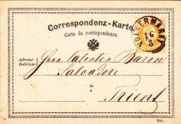1878-Austria Correspondenz Karte 2kr. Da Volkermarkt - Briefmarken