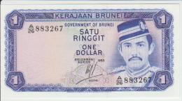 Brunei 1 Dollars 1984 Pick 6c UNC - Brunei