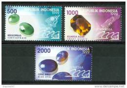 1999 Indonesia Minerali Minerals Gemme Gems Set MNH** Fo178 - Minerals