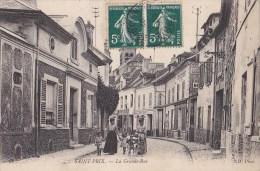 95 SAINT PRIX  Femmes élégantes En Chapeau ENFANTS  Commerces Grande Rue Timbrée 1907 - Saint-Prix