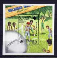 Solomon Islands - 1989 - Chidren's Games/Baseball Miniture Sheet - MNH - Salomon (Iles 1978-...)