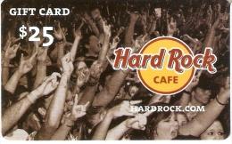 TARJETA DE REGALO DE HARD ROCK CAFE (GIFT CARD-CADEAU) - Schede Telefoniche