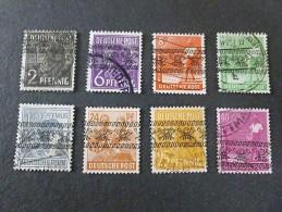 1948 Bandaufdruck Selection - Zone Anglo-Américaine