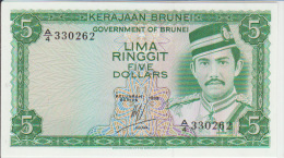 Brunei 5 Dollars 1983 Pick 7b UNC - Brunei