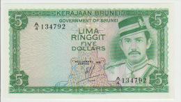 Brunei 5 Dollars 1981 Pick 7a UNC - Brunei