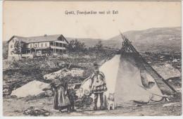 00665 GROTLI - Finnefamilien Med Sit Telt - Norvège