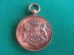 Stad Lokeren, Strijdersbond-Volksbond, 1890-1900, 61 Gram (medailles0972) - Sonstige