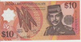 Brunei 10 Dollars 1998 Pick 24 UNC - Brunei