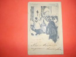 B282 Papi Leone XIII Apre La Porta Santa Cm13,5x8,5 Angolo Spizzicato E Macchioline Umido - Papas