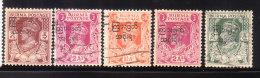 Myanmar Burma 1947 KG VI Overprinted 5v Used - Birmanie (...-1947)