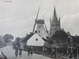 """Zedelgem / Aartrijke  !!! Zeldzaam !!! """" Aertrycke (Molen, Kerk, Ingang Dorp??) """" 1918 - Zedelgem"""