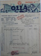 OLLA MANUFACTURES REUNIES DE CAOUTCHOUC (Paris)  Facture 1940 - Factures & Documents Commerciaux