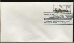 USA  -  CHESNEE  NATIONAL  BATTLEFIELD  -   USS COWPENS - Militaria
