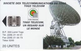 TOGO - Earth Station 2(new Logo-20 Units), Chip SC7, Used - Togo