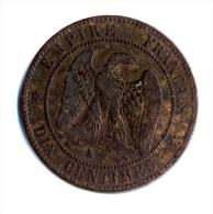 PIECE DE 10 CENTIMES NAPOLEON III  ANNEE 1853 K   ETAT  B - D. 10 Centesimi