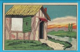 C.P.A. Carte à Fenêtre Paysage Dessiné - Pour Y Glisser Une Photo - Mechanical