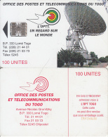 TOGO - Earth Station, First Chip Issue 100 Units(reverse A-CN At Centre), BN : 54150100, Used - Togo