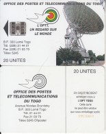 TOGO - Earth Station, First Chip Issue 20 Units(reverse A-CN At Centre), Used - Togo