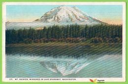 Voyo USA Mt RAINIER Mirrored In  Lake Spanawy, WA  - 1925 Used  Nr A-90504 - Andere