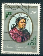POLYNESIE  PA (o) Y&T N° 108 : Reine Pomaré IV - Usados