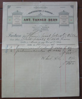 FATTURA BERNA ANT. TANNER  GESCHAFTSBUCHER FABRIK & BUCHDRUCKEREI ANNO 1895 SVIZZERA - Svizzera