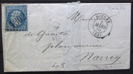 GC 1302 + Cachet Type 15  --  DIEUZE  --  MEURTHE  --  LSC  --  1868  --  INDICE 5 - Marcophilie (Lettres)