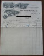 FATTURA GEORGES MEYER % C. STROHWAREN MANUFACTUR WOHLEN SVIZZERA ANNO 1906 - Svizzera