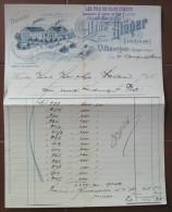 FATTURA MANIFACTURE DE TRESSES DE PAILLE VILLMERGEN AARGAU SVIZZERA ANNO 1902 - Svizzera
