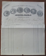 FATTURA MANIFACTURE DE PAILLE JACQUES JSLER & C.. WOHLEN SVIZZERA ANNO FINE 1800 - Svizzera