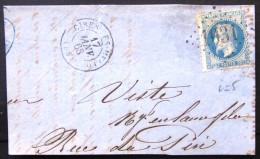 GC 1031 + Cachet Type 15 Sur Grand Fragment  --  CIRES LES MELLO  --  OISE  --  LsC  --  1868  --  INDICE 5 - Marcophilie (Lettres)